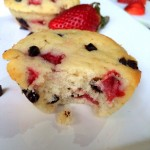 Strawberry and Chocolate Chip Muffins (egg less)