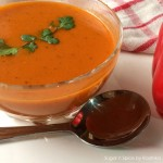 Roasted Red Pepper Soup with Croutons