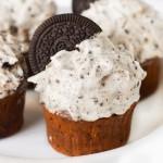 Dark Chocolate Cupcakes with Oreo Frosting