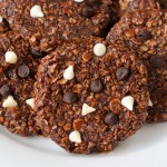 Oatmeal Chocolate Cookies (eggless, sugar free and gluten free)