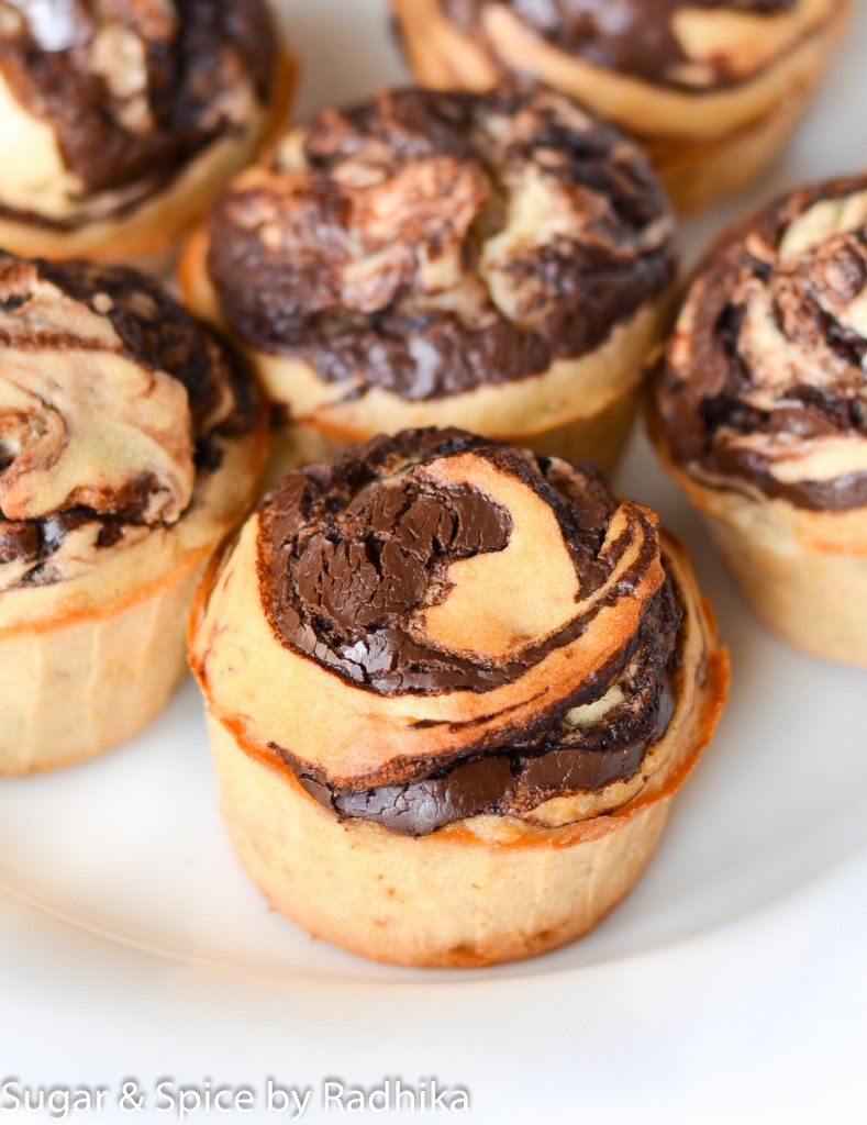 Chocolate Swirl Banana Muffins