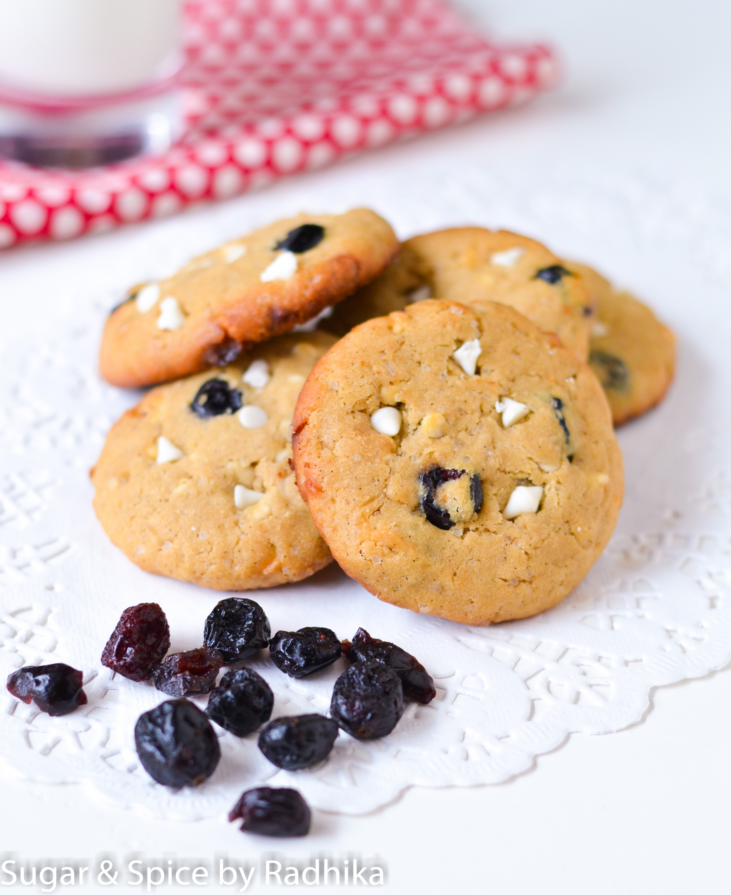 White Chocolate And Cranberry Cookies Sugar Spice By Radhika