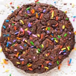 Giant Dark Chocolate Chip Sprinkle Cookie