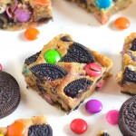Cookie Bars with Oreos and Gems
