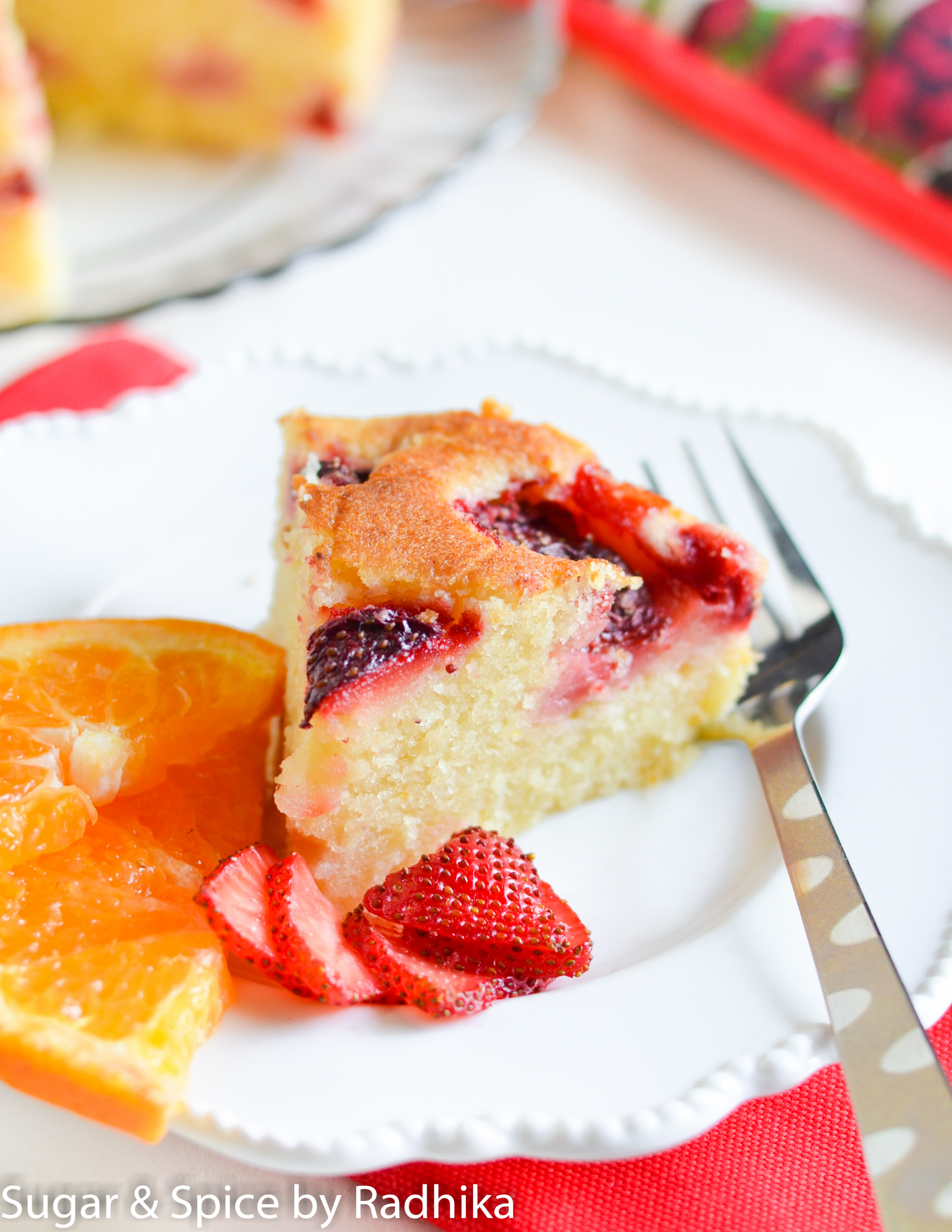Orange and Strawberry Summer Cake