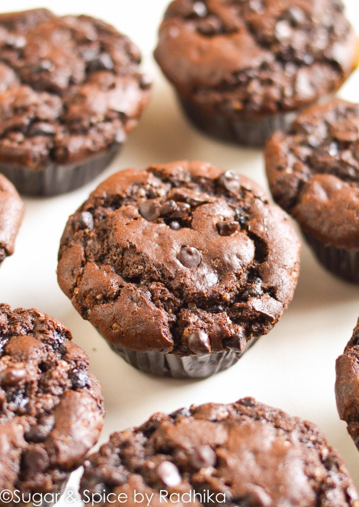 Double Chocolate Muffins (eggless)