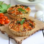 Cherry Tomato and Spinach Quiche