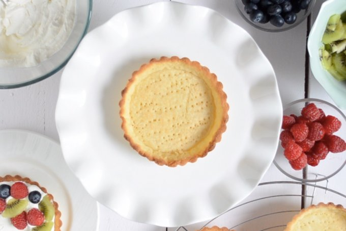Eggless Tart Shells Recipe