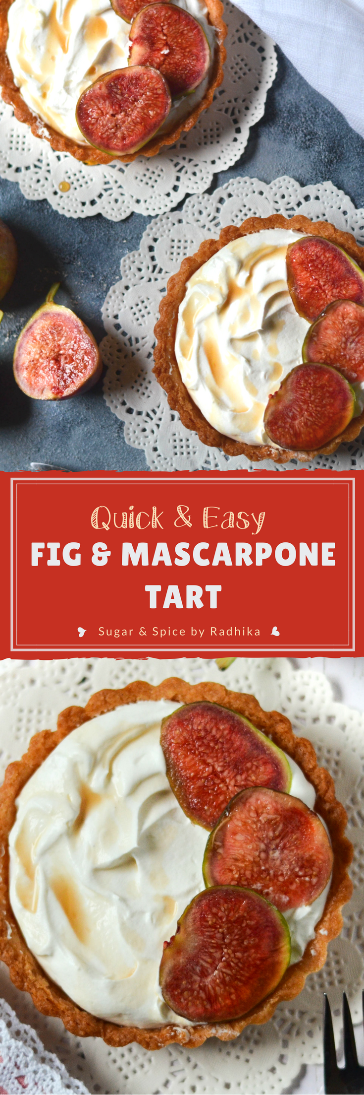 Fig and Mascarpone Tart:Up your dessert game this winter, with an easy-to-prepare and deliciously creamy Figs and Mascarpone Tart.