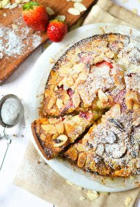 Almond and Strawberry Tea Cake