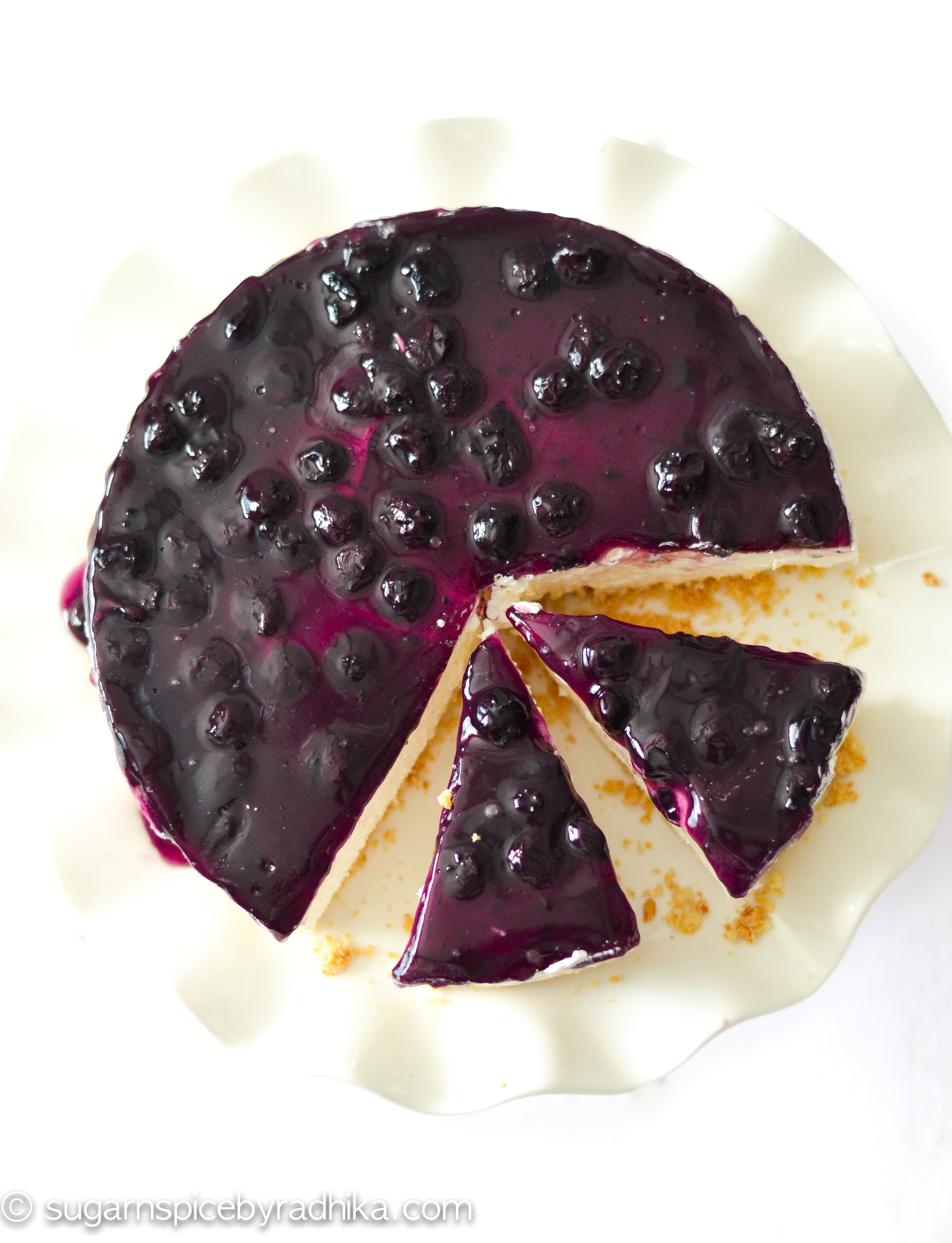 Easy No Bake Blueberry Cheesecake