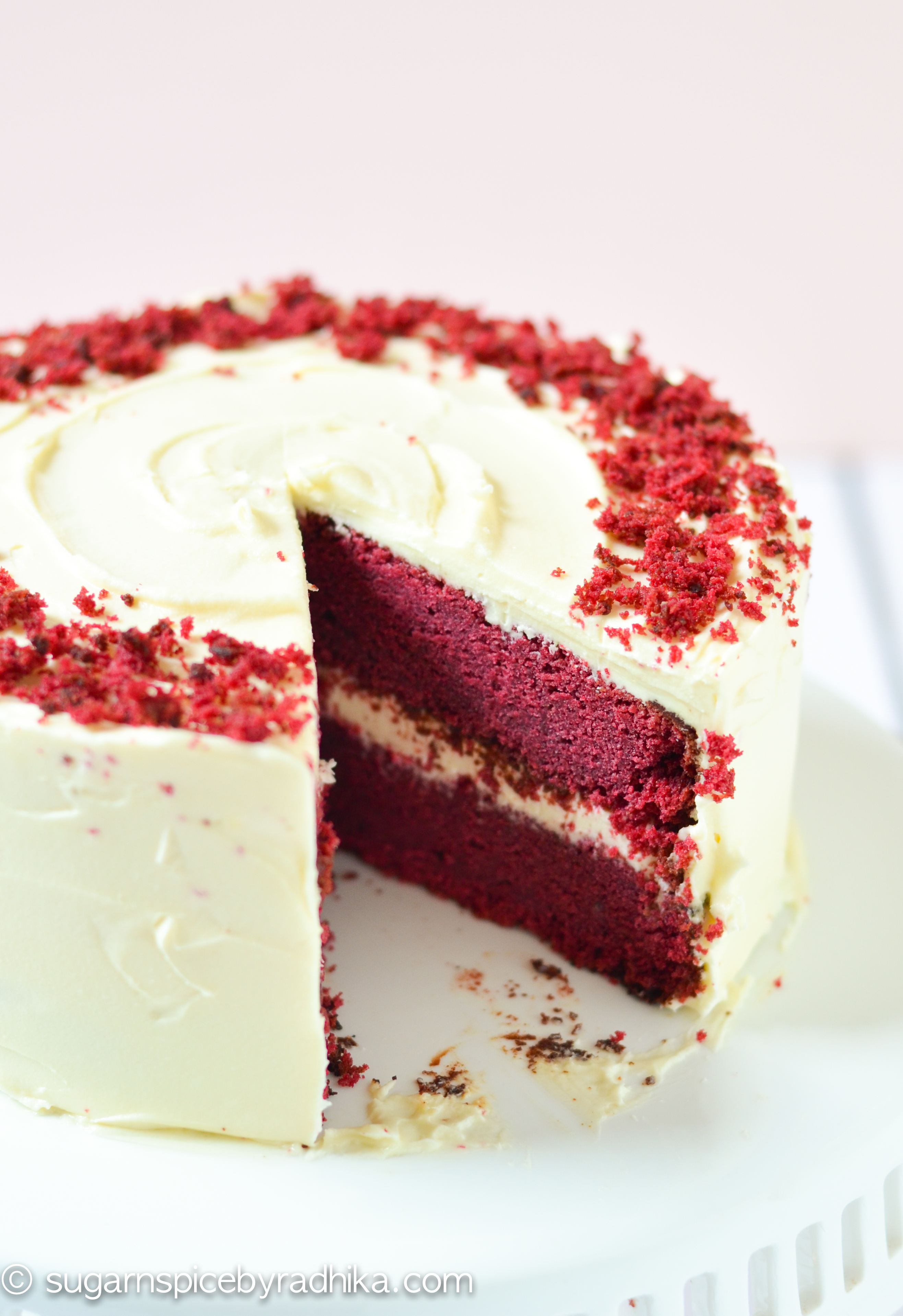 RedVelvet Cake with Cream Cheese Frosting (eggless)