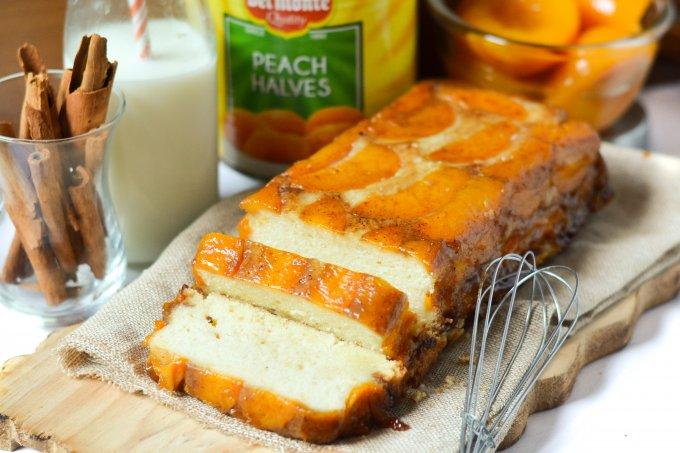 Peach Upside Down Cake (eggless)