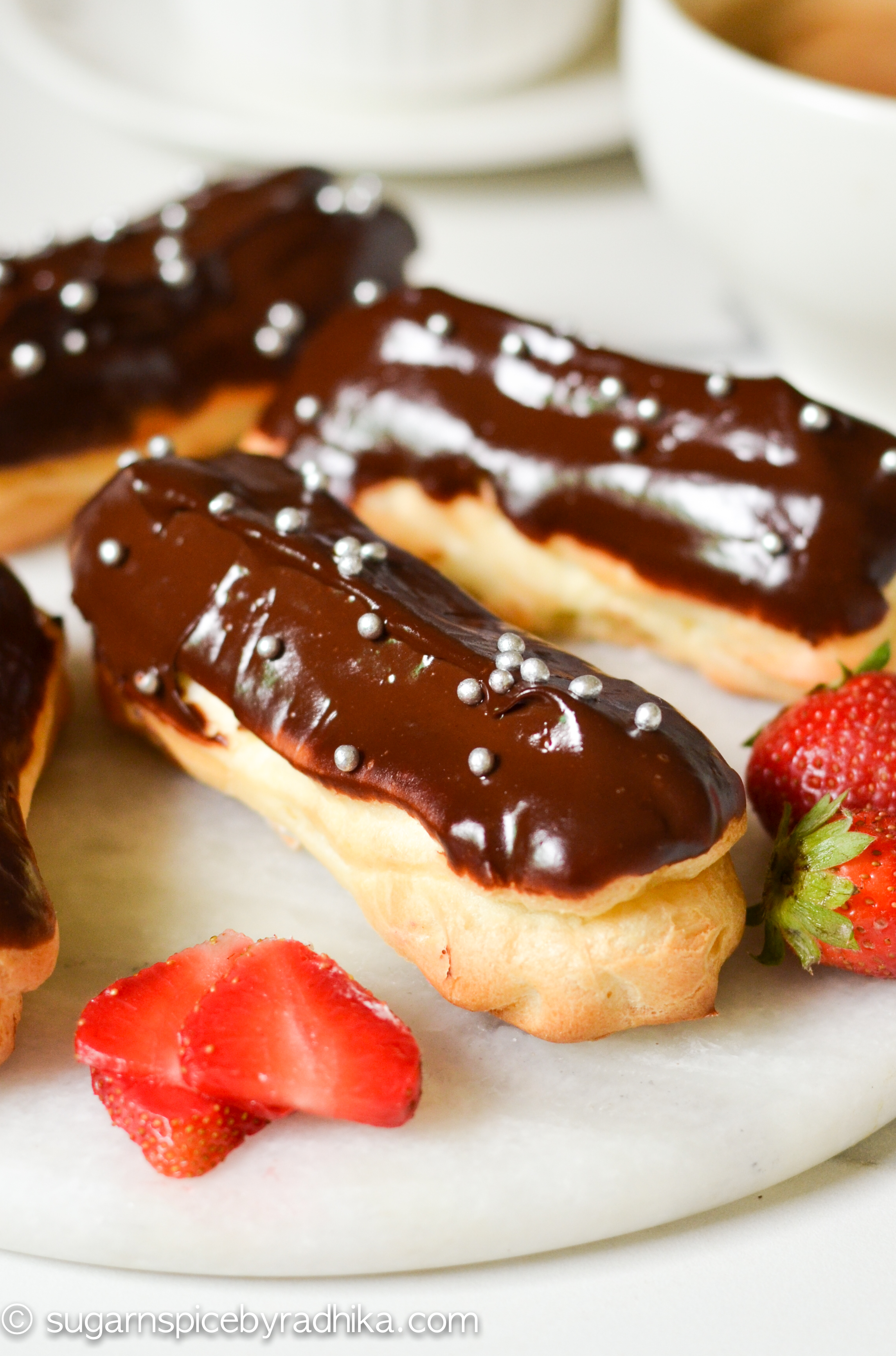 The Easiest Chocolate Eclairs