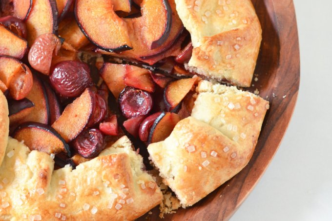 Plum and Cherry Galette