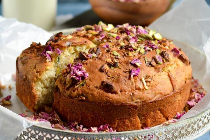 Thandai Rose-Pistachio Cake