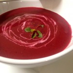 Spicy beetroot soup