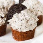 Dark Chocolate Cupcakes with Oreo Frosting