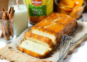 Upside Down Peach Cake (eggless)